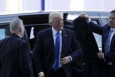 Trumpův příjezd na summit v Bruselu