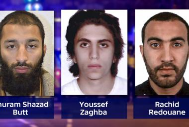 Khuram Shazad Butt, Youssef Zaghba a Rachid Redouane