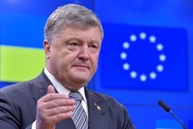 Petro Porošenko po jednání v Bruselu
