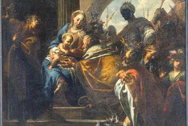 Brandlovo Klanění tří králů (detail)
