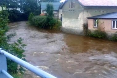 Silné deště zvedly hladiny na Liberecku, Smědá hlásila třetí stupeň