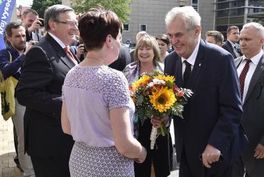 Prezident Miloš Zeman na návštěvě Kraje Vysočina