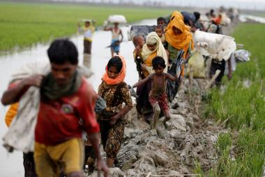 Rohingští uprchlíci na hranicích Barmy a Bangladéše