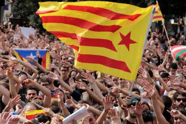 Mítink stoupenců katalánské nezávislosti