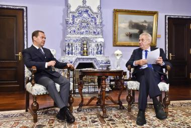 Setkání Miloše Zemana a Dmitrije Medvěděva