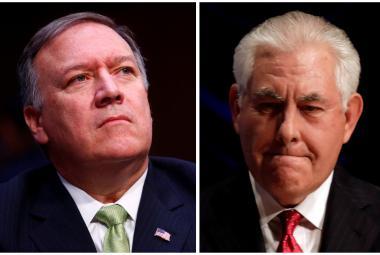 Šéf CIA Mike Pompeo a ministr zahraničí USA Rex Tillerson