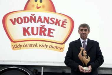 Andrej Babiš otevřel ve společnosti Vodňanské kuře novou líheň kuřat (13. 11. 2013)