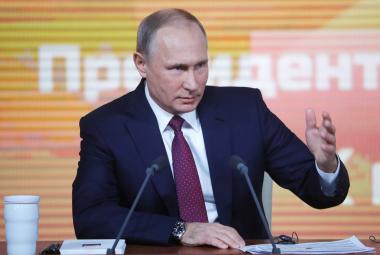Vladimir Putin na tradiční tiskové konferenci