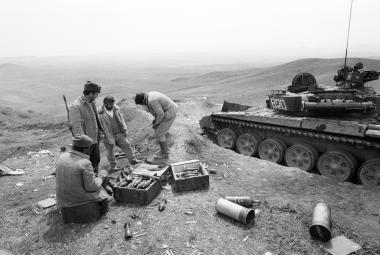 Arménští vojáci v Náhorním Karabachu v dubnu 1993