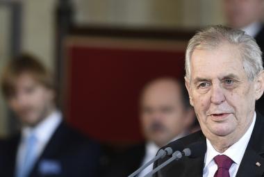 Miloš Zeman při inauguraci