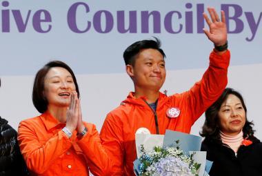 Úspěšný kandidát hongkongské opozice