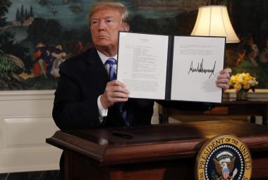 Trump podepsal prezidentské memorandum k odstoupení od jaderné dohody s Íránem