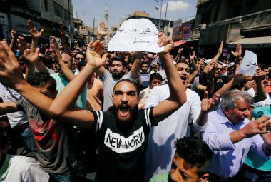 Jordánský protest proti úsporným opatřením