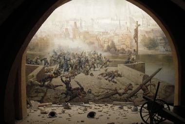 Švédi už zas bojují na Karlově mostě. Muzeum představí restaurovanou malbu