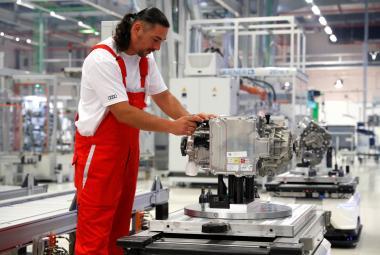 Výroba v továrně Audi v maďarském Györu