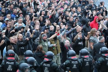 Pondělní demonstrace v Saské Kamenici