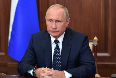 Vladimir Putin mluví v televizním rozhovoru o penzích