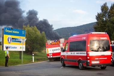 Požár v Loukově