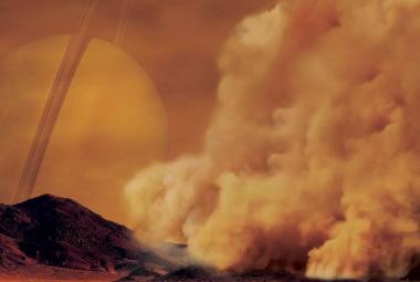 Na rovníku Saturnova měsíce Titanu zuří silné prachové bouře