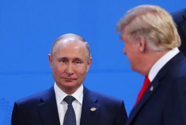 Prezidenti Vladimir Putin a Donald Trump na summitu G20