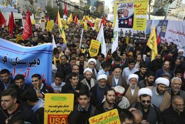 Protiamerická demonstrace v Íránu