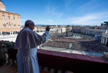 Papež František pronesl poselství Urbi et orbi