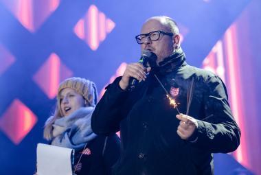 Pawel Adamowicz chvilku před útokem