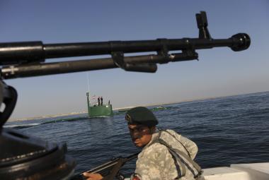 Íránské vojenské cvičení v Ománském moři