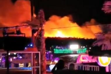 Požár na ostrově Pag