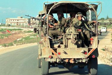 Izraelská vojska v okupovaném jižním Libanonu (snímek z března 2000)