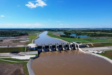 V polské Ratiboři skončily práce na suchém poldru. V budoucnu by se z něj měla stát klasická přehrada