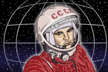 Triumfální nadšení uvítalo Gagarina v Praze