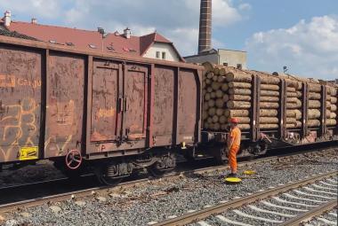 K dobrým hospodářským výsledkům pomáhá Českým drahám i svoz dřeva z oblastí postižených kůrovcem