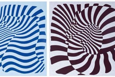 Na zebrách Victora Vasarelyho přechází zrak