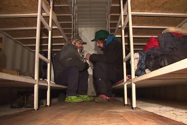 Kontejnerová noclehárna pro lidi bez domova