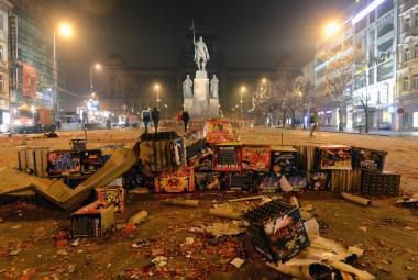 Úklid po silvestru vyjde Prahu na milion, ostatní města počítají jen s několika tisíci