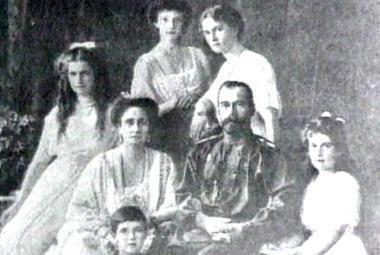 Ruský car Mikuláš II. s rodinou
