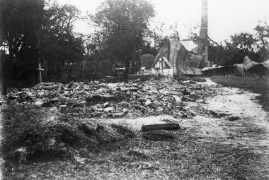Český Malín na Ukrajině po vypálení nacisty