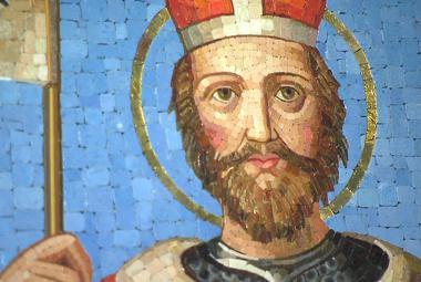 Mozaika, kterou daroval Václavu Klausovi papež