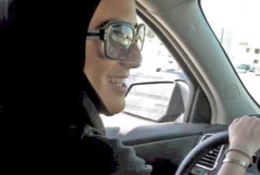 Saúdská Arabka za volantem