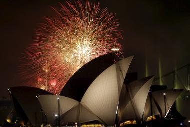 Novoroční ohňostroj 2016 v Sydney