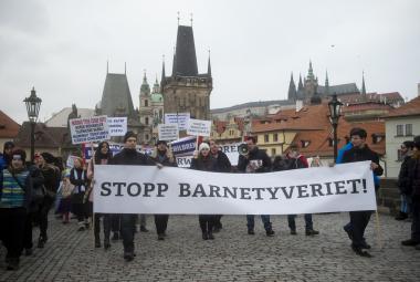 Děti patří do rodin, protestovalo se v Praze proti Barnevernetu