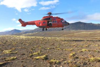 Vrtulník islandské pobřežní stráže
