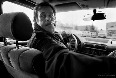 Tomki Němec fotil Havla ve vlnách, s rockery, ale i ve chvíli, kdy ujížděl ochrance