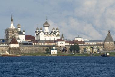 Klášter na Soloveckých ostrovech, kde byl jeden z prvních gulagů
