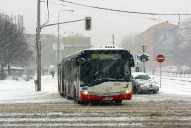 Linky MHD v Brně nabíraly zpoždění kvůli sněžení