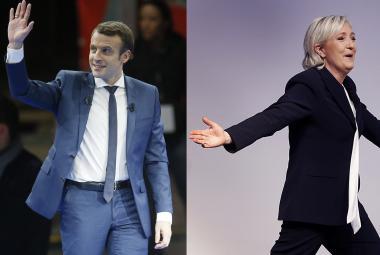 Emannuel Macron a Marine Le Penová