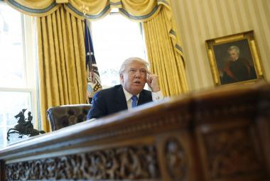 Trump při rozhovoru s Agenturou Reuters
