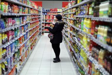 Supermarket ve francouzském Nice
