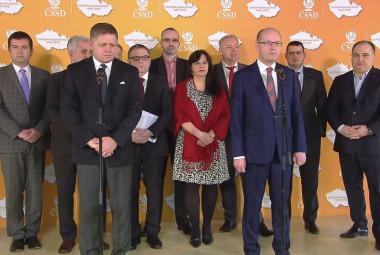 Závěrečná tisková konference po sjezdu ČSSD
